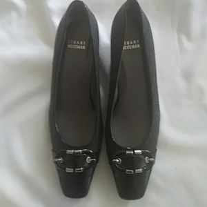 Stuart weitzman gray black shoes 7.5